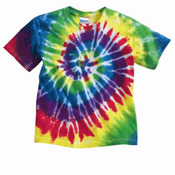 Youth Multi-Color Spiral Tie-Dyed T-Shirt