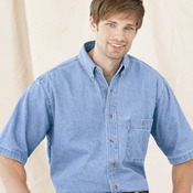 Short Sleeve Classic Denim Shirt
