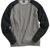 Fitted Raglan Crewneck Sweatshirt